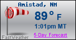 Weather Forecast for Amistad, NM