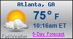 Weather Forecast for Atlanta, GA