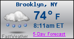 Weather Forecast for Brooklyn, NY