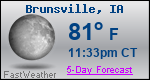 Weather Forecast for Brunsville, IA