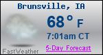 Weather Forecast for Brunsville, IA