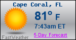 Weather Forecast for Cape Coral, FL