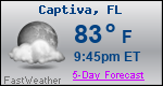 Weather Forecast for Captiva, FL