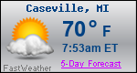 Weather Forecast for Caseville, MI