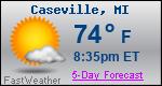 Weather Forecast for Caseville, MI