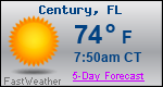 Weather Forecast for Century, FL