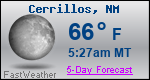 Weather Forecast for Cerrillos, NM