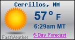 Weather Forecast for Cerrillos, NM