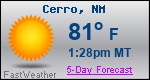 Weather Forecast for Cerro, NM
