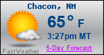 Weather Forecast for Chacon, NM