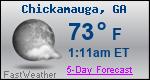 Weather Forecast for Chickamauga, GA