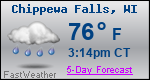 Weather Forecast for Chippewa Falls, WI