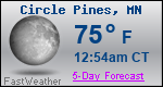 Weather Forecast for Circle Pines, MN