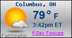 Weather Forecast for Columbus, OH