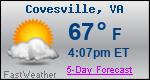 Weather Forecast for Covesville, VA