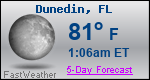 Weather Forecast for Dunedin, FL