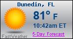 Weather Forecast for Dunedin, FL
