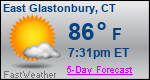 Weather Forecast for East Glastonbury, CT