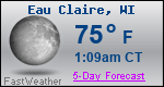 Weather Forecast for Eau Claire, WI