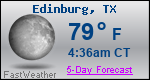 Weather Forecast for Edinburg, TX
