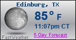 Weather Forecast for Edinburg, TX