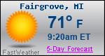 Weather Forecast for Fairgrove, MI