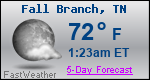 Weather Forecast for Fall Branch, TN