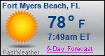Weather Forecast for Fort Myers Beach, FL