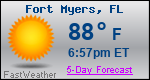 Weather Forecast for Fort Myers, FL