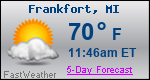 Weather Forecast for Frankfort, MI