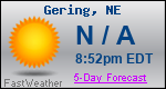 Weather Forecast for Gering, NE