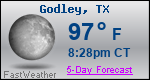 Weather Forecast for Godley, TX