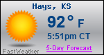 Weather Forecast for Hays, KS