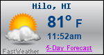 Weather Forecast for Hilo, HI