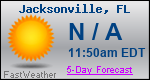 Weather Forecast for Jacksonville, FL