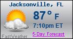 Weather Forecast for Jacksonville, FL