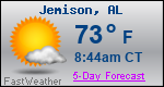 Weather Forecast for Jemison, AL