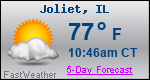 Weather Forecast for Joliet, IL
