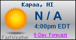 Weather Forecast for Kapaa, HI