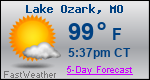 Weather Forecast for Lake Ozark, MO
