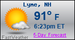 Weather Forecast for Lyme, NH