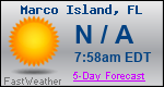 Weather Forecast for Marco Island, FL