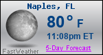 Weather Forecast for Naples, FL