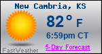 Weather Forecast for New Cambria, KS
