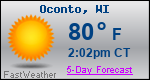 Weather Forecast for Oconto, WI