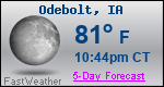 Weather Forecast for Odebolt, IA