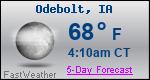 Weather Forecast for Odebolt, IA
