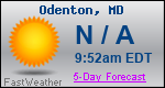 Weather Forecast for Odenton, MD