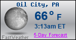 Weather Forecast for Oil City, PA