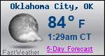 Weather Forecast for Oklahoma City, OK